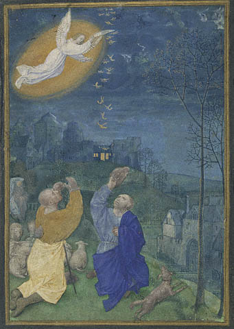 shepherds. The Annunciation to